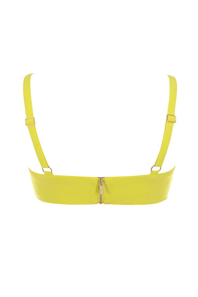 leela top in yellow