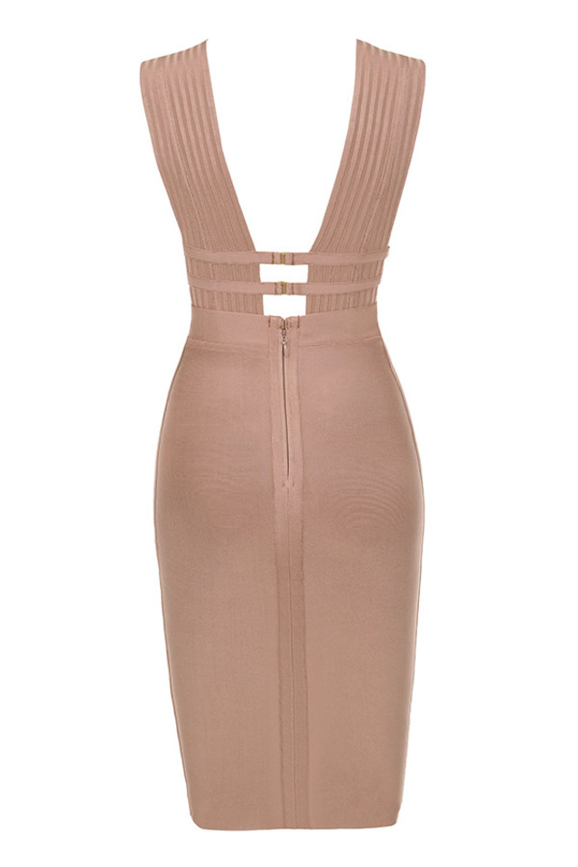 mara dress in camel