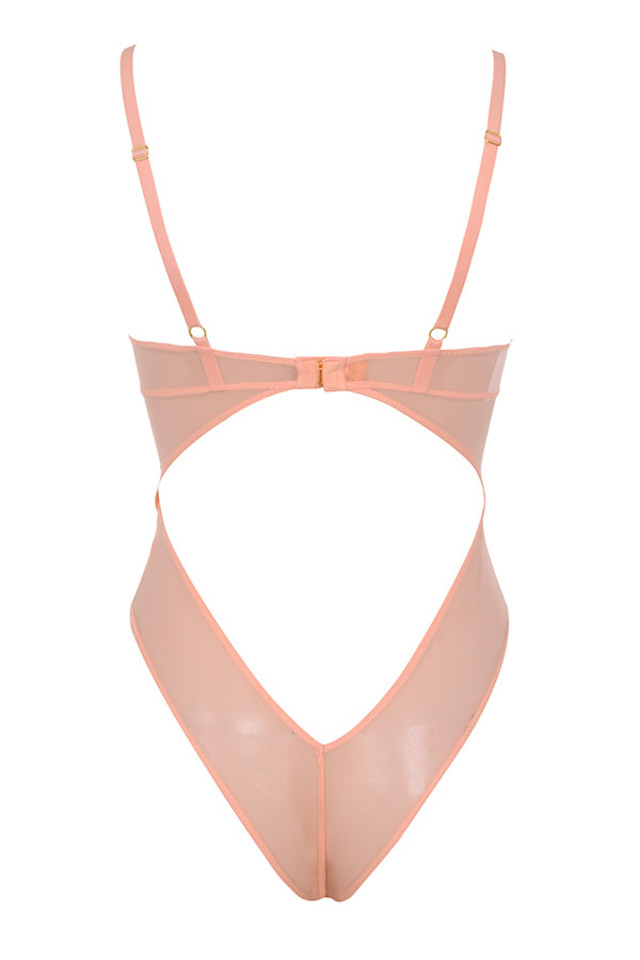 nadia bodysuit in peach