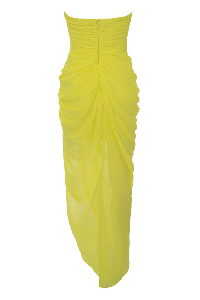 paloma dress in yellow