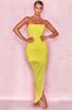 'Paloma' Chiffon Draped Corset Dress