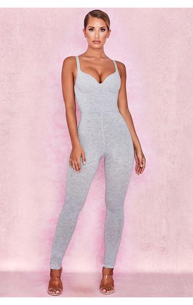 Kalani Grey Soft Loungewear Jumpsuit