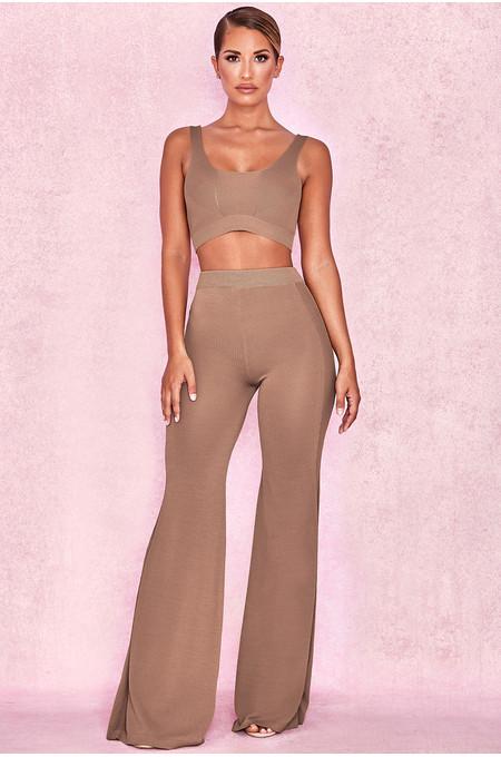 Rosita Caramel Fine Rib Kit Trousers