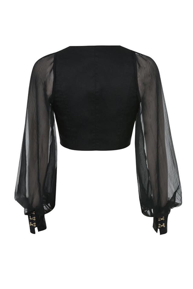 aliyah top in black