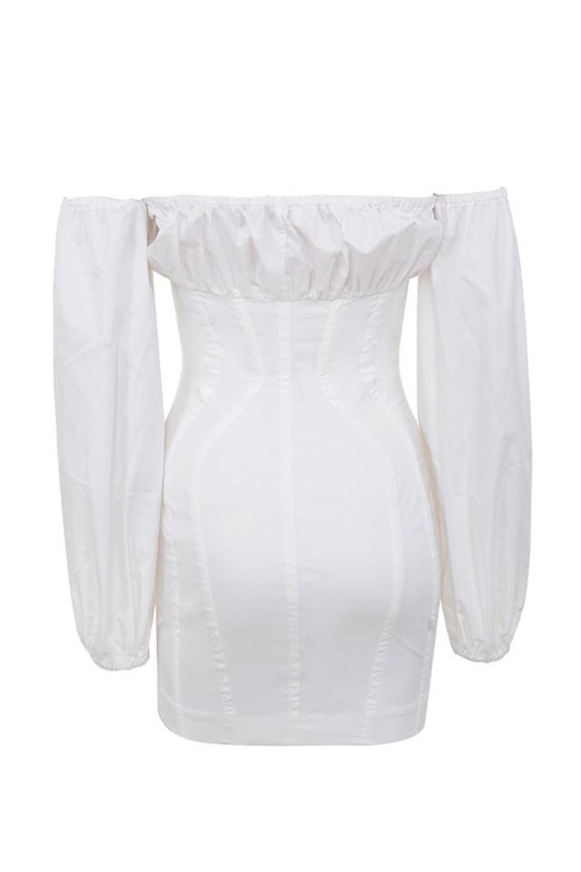 arabella dress in white