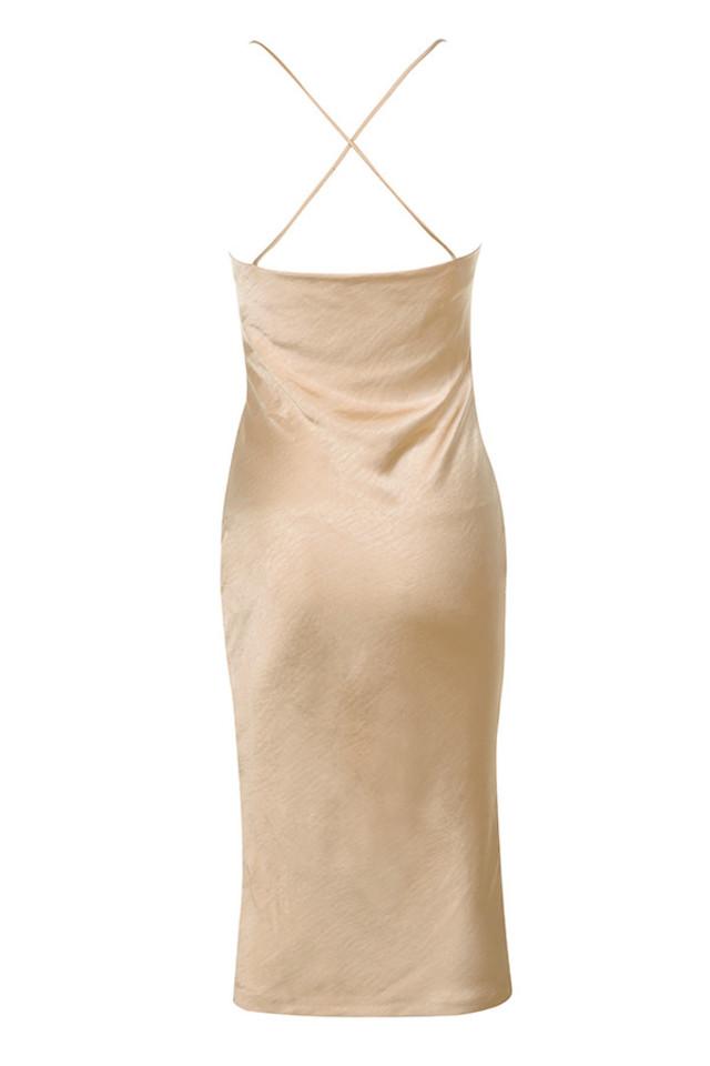 julieta dress in champagne