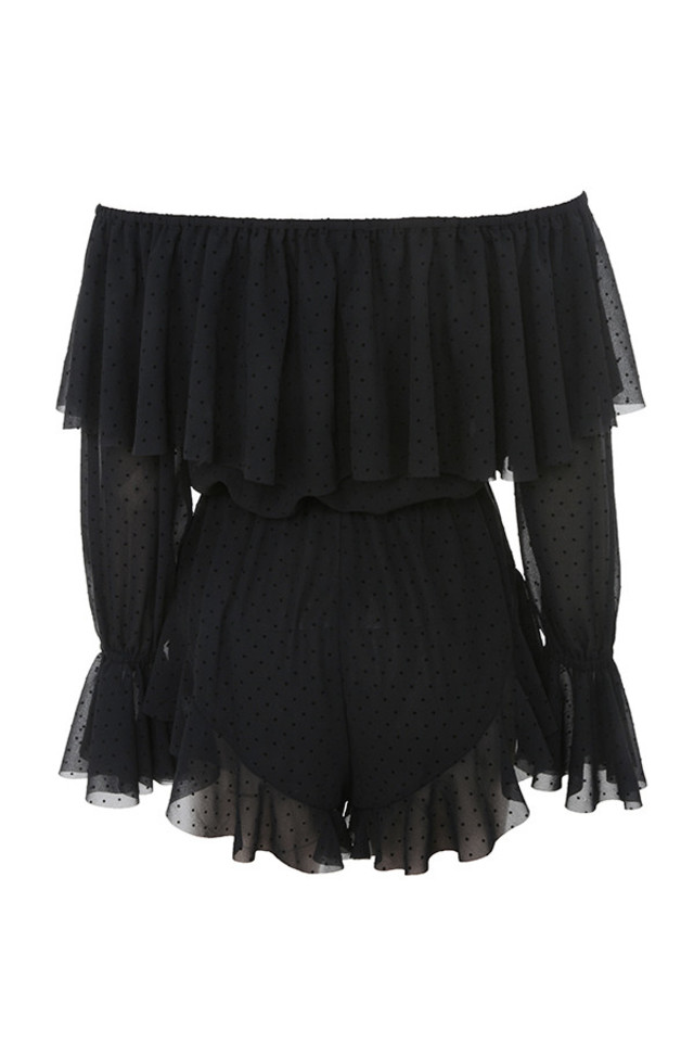ramona playsuit in black