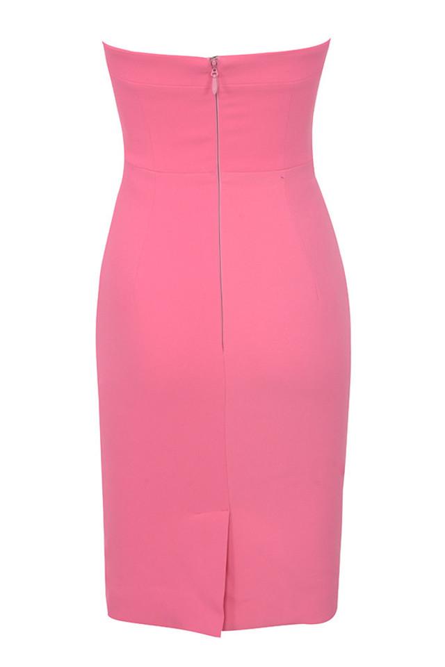 rinah dress in hot pink