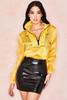 Ariya Lemon Silk Organza Utility Sports Jacket