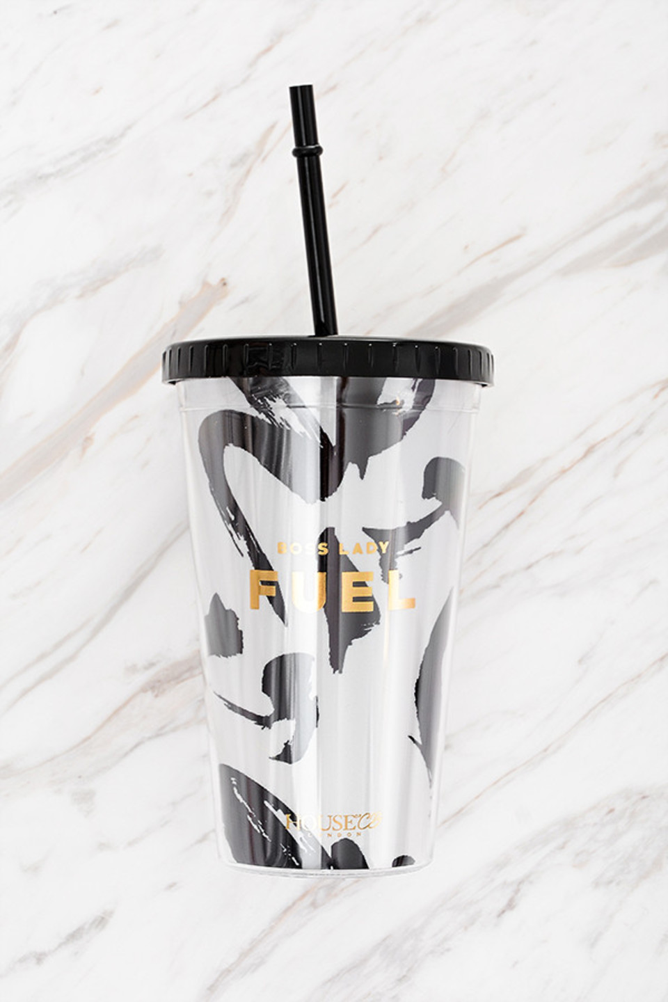 Fuel Monochrome Insulated Cup with Straw