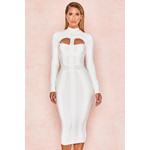 Azariah White Cut Out Long Sleeve Bandage Dress