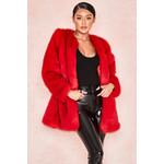 Roberta Red Faux Fur Jacket