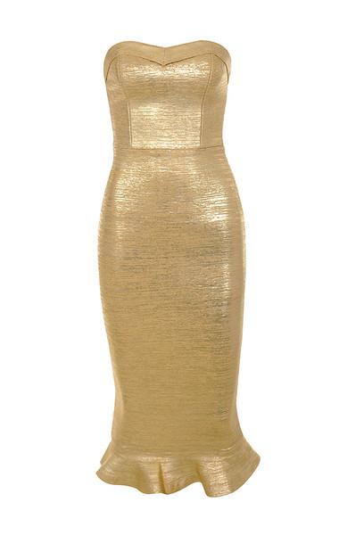 fabrizia gold dress