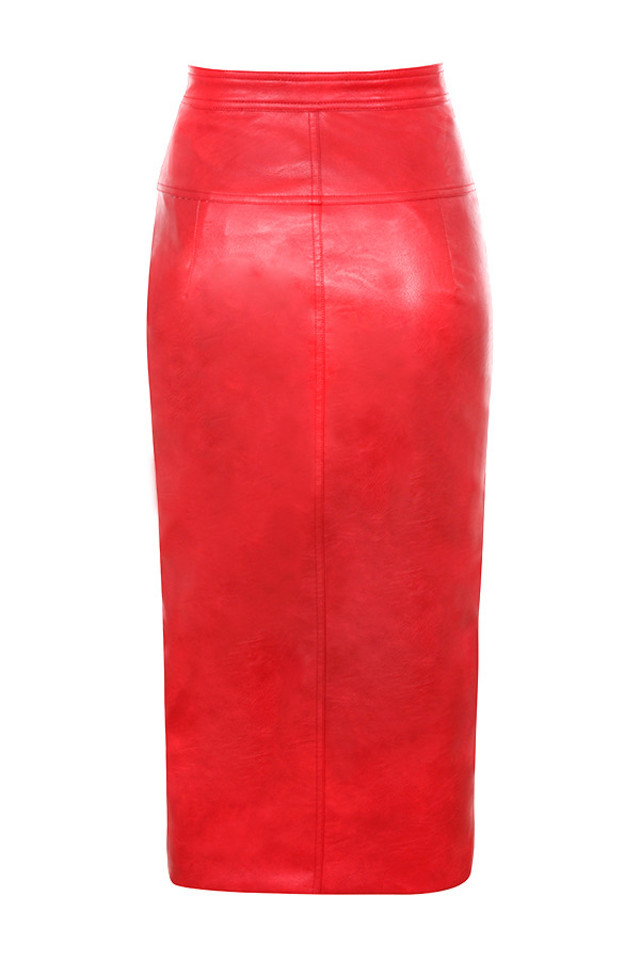 ariella skirt in red