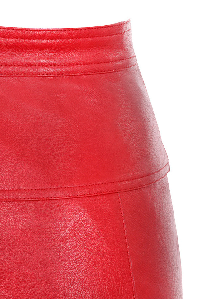 red ariella skirt