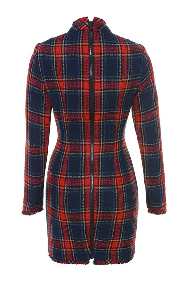 catriona dress in tartan