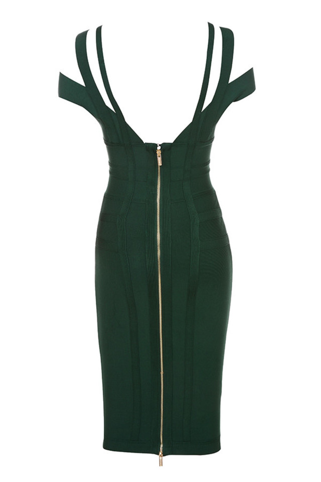 mimi dress in evergreen