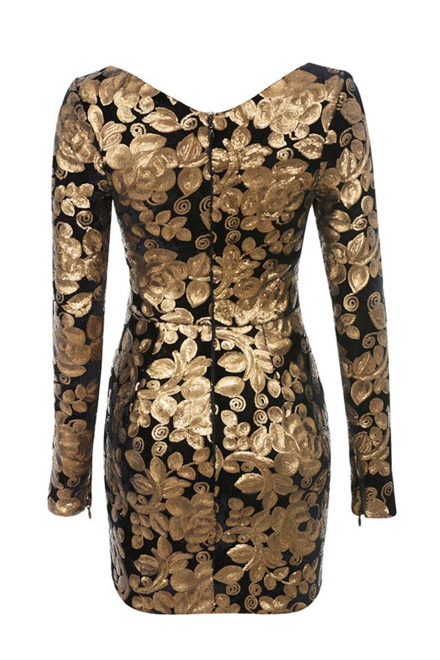 silvaja dress in gold