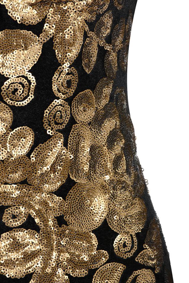 gold silvaja dress