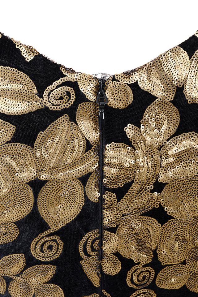 silvaja gold dress