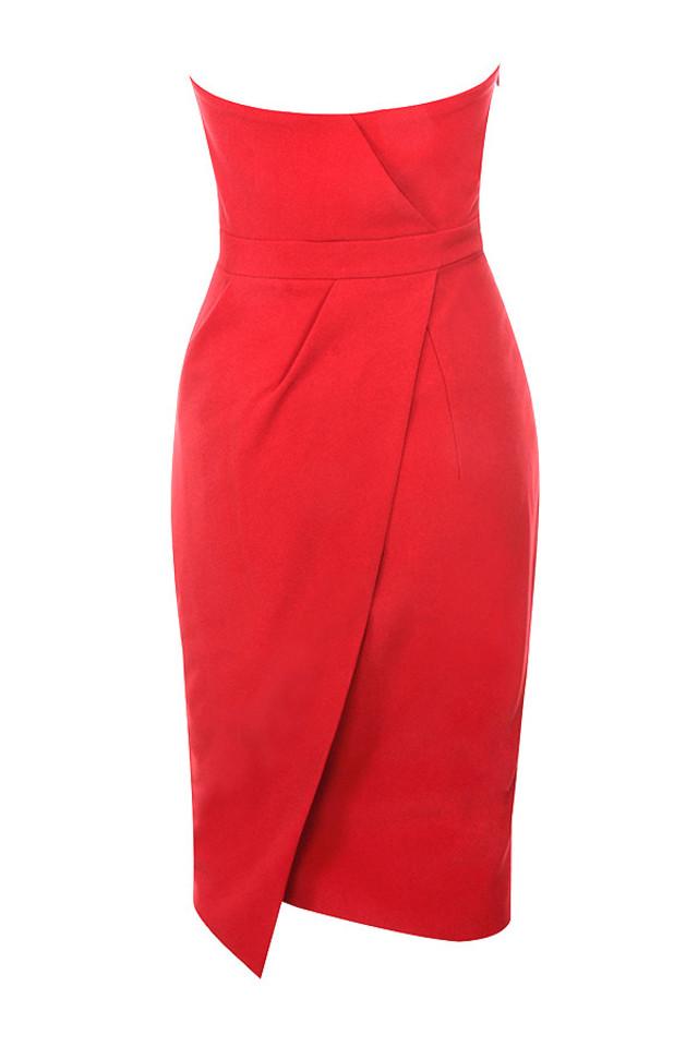 uma dress in red