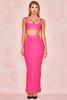 Eve Hot Pink Bandage Rib Maxi Skirt