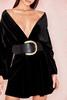 Reportage Black Ultra Wide Waist Belt