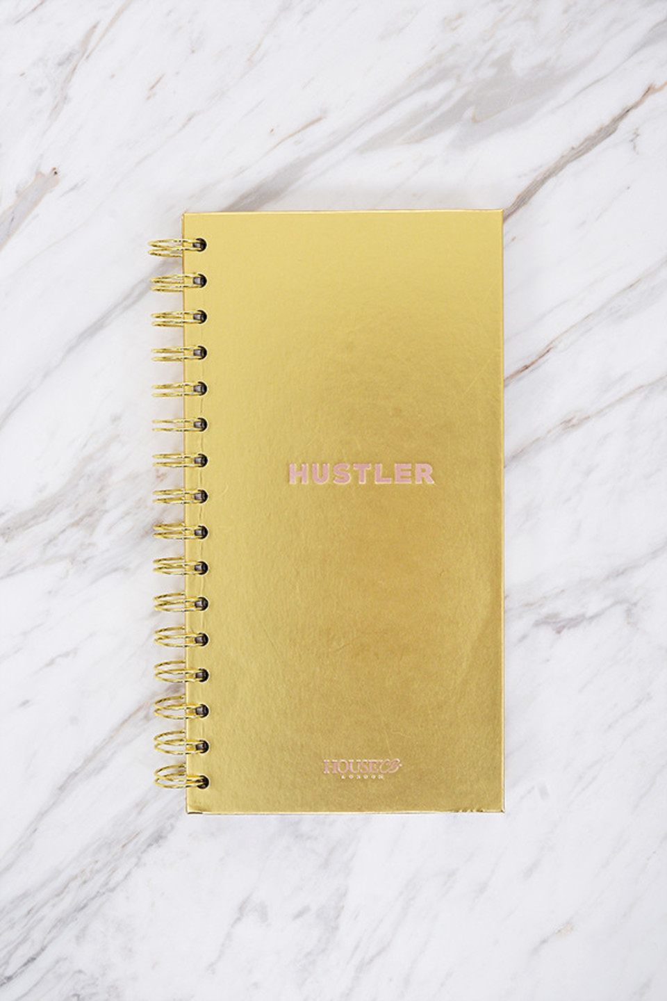 Embossed Hardcover Notebook Gold