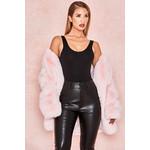 Roberta Pale Pink Faux Fur Jacket