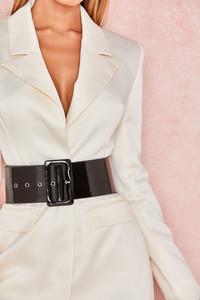 Ranger Black Patent Wide Waist Belt