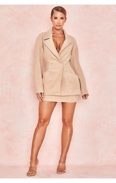 Rose Camel Corduroy Mini Skirt