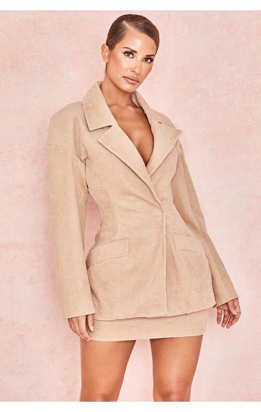 Ada Camel Corduroy Tailored Jacket