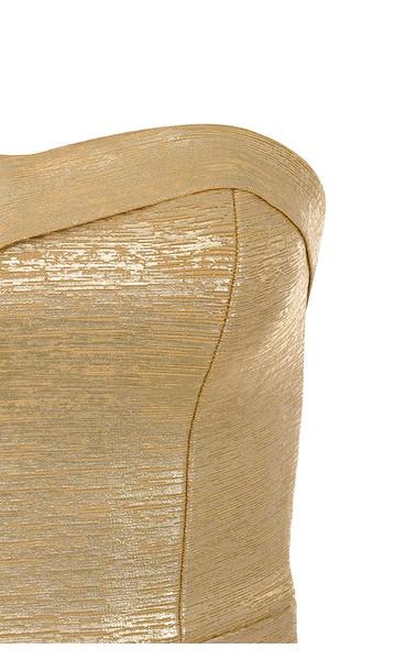 fabrizia dress in gold