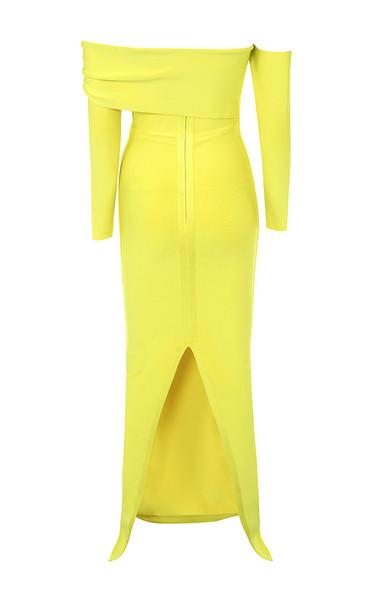 nalani dress in yellow