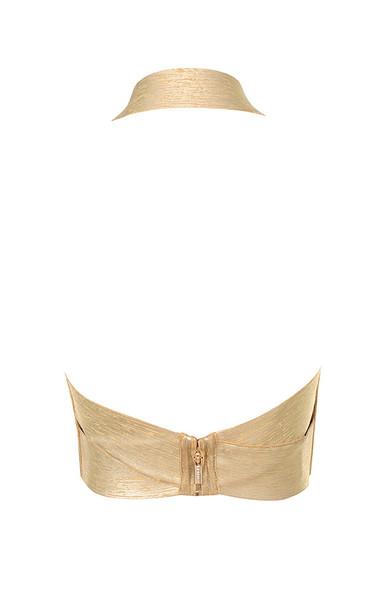 silvana top in gold