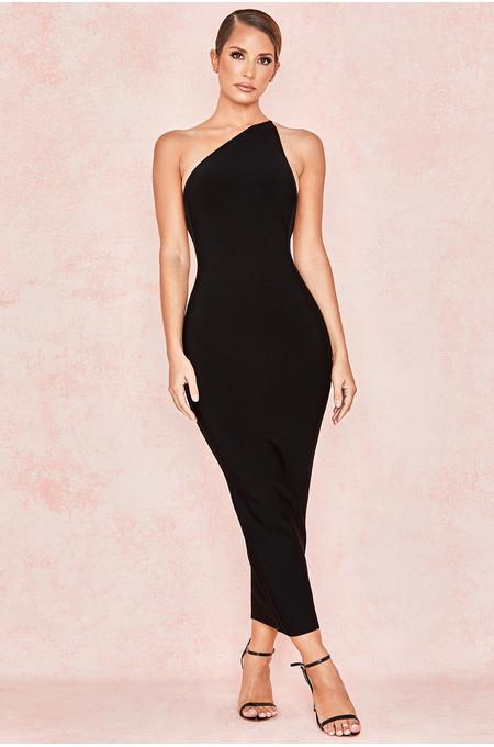 Sasha Black One Shoulder Bandage Dress