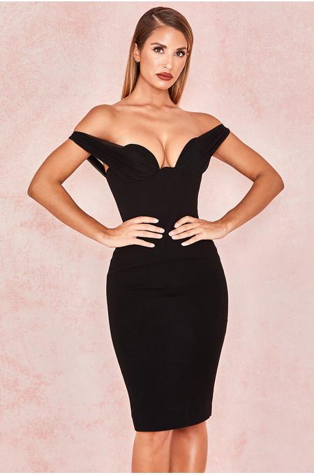 Yolanda Black Push Up Bust Dress