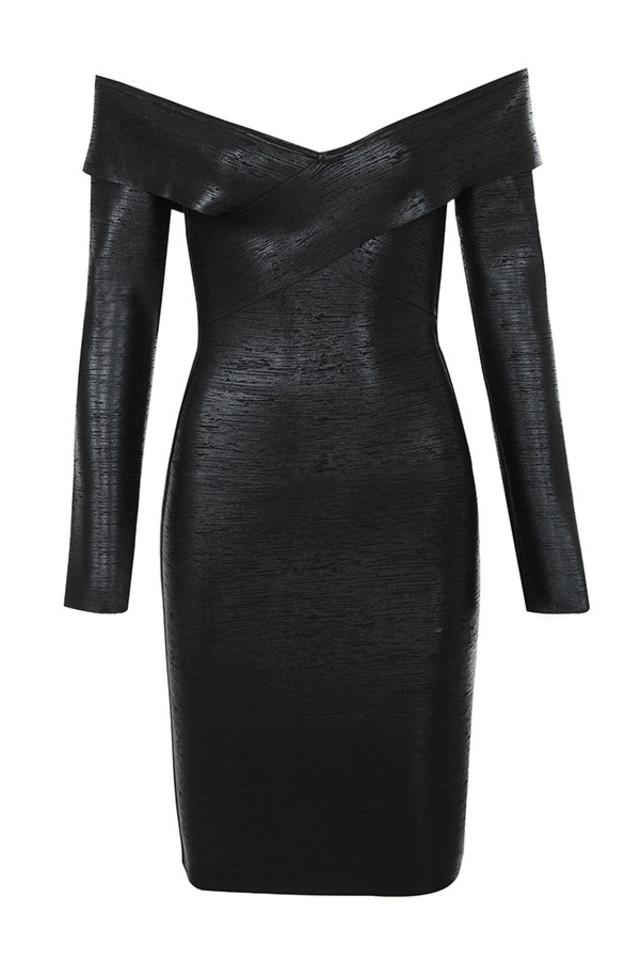 aziza dress in black