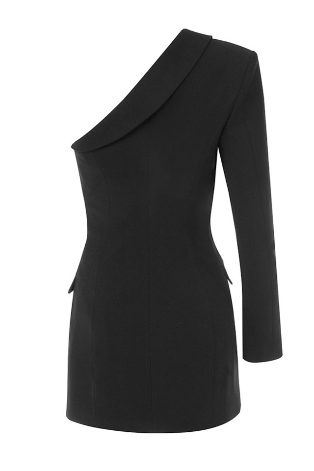febe blazer in black