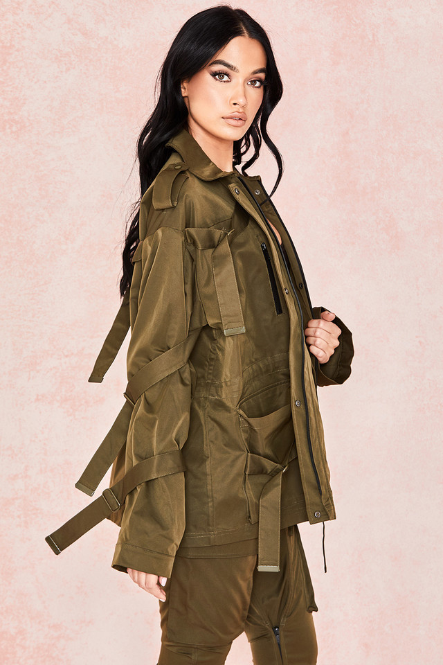 Gilli Khaki Sheen Twill Utility Jacket