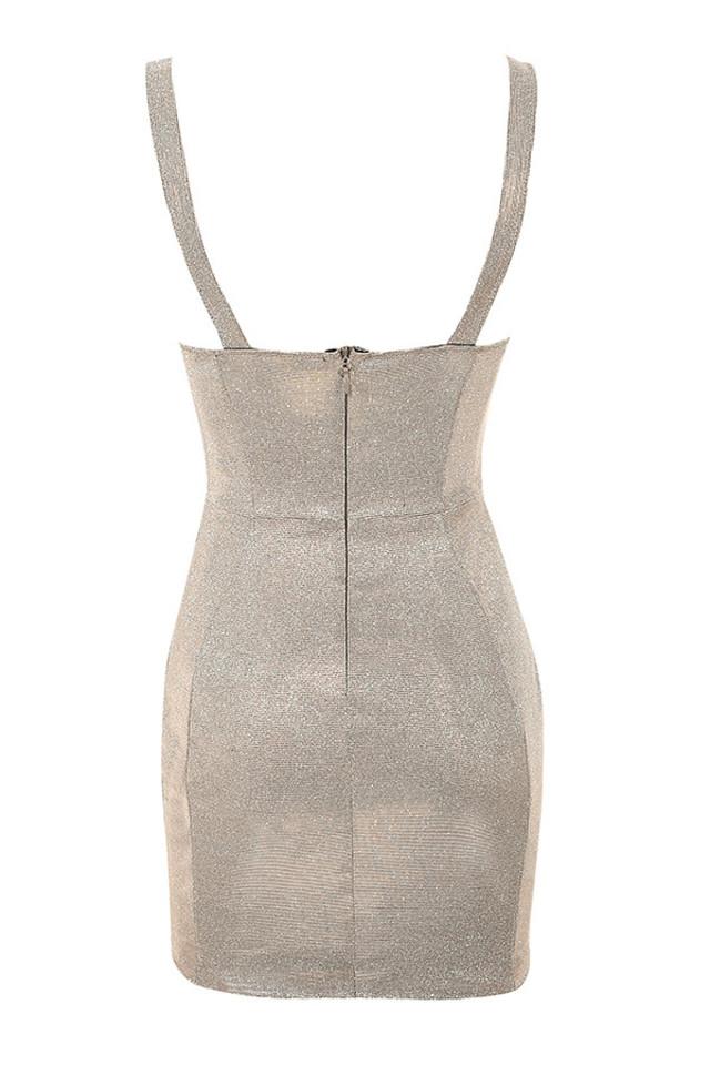 luisa dress in silver