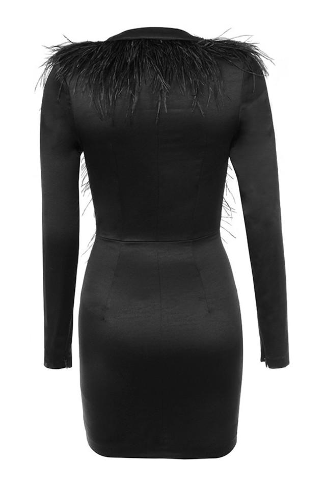 tara dress in black