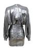 alvona dress in silver