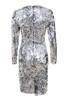 robina dress in silver