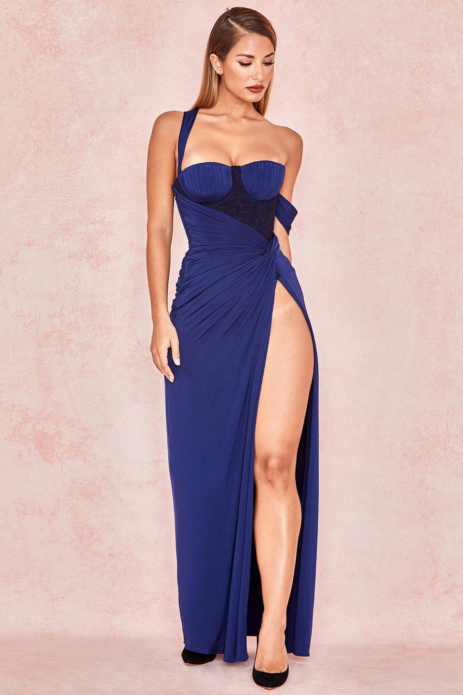 Charmaine Midnight Blue Bodice Maxi Dress