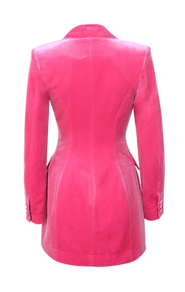 cristalle jacket in pink