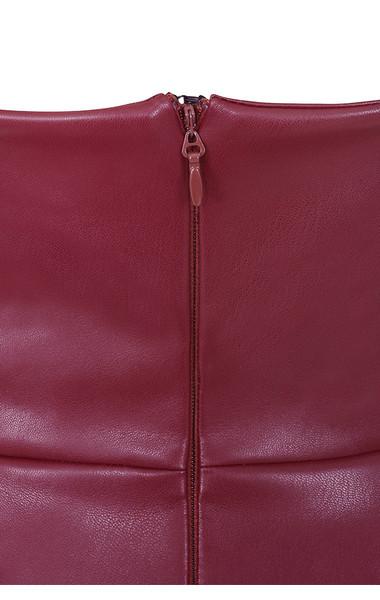 saskia burgundy dress