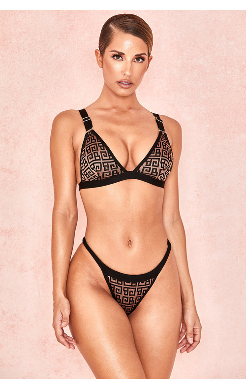 Milena Black + Tan Bandage Briefs