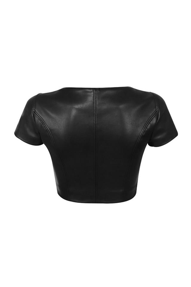 abigail top in black