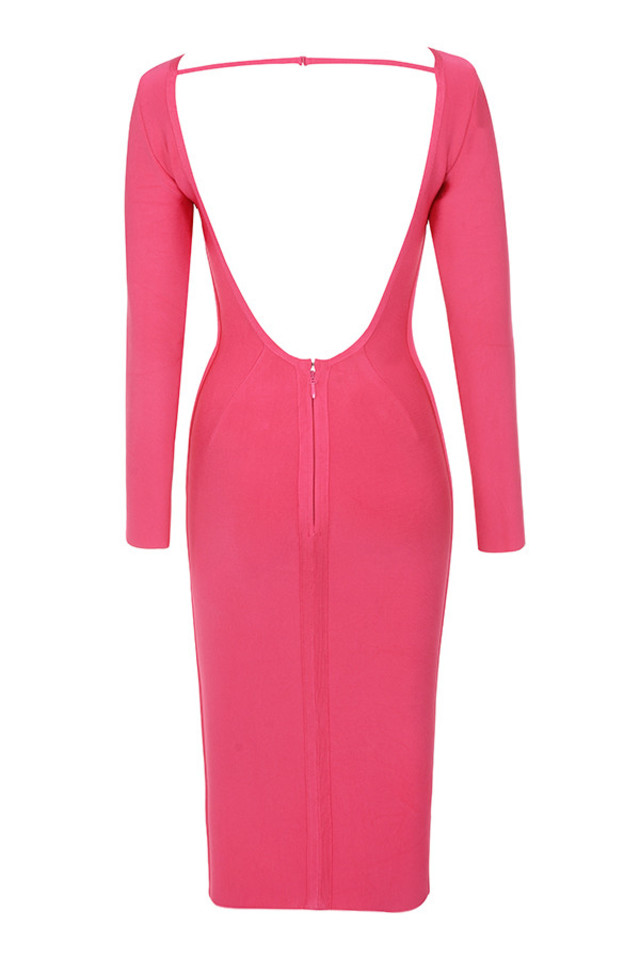 antonia dress in fuchsia